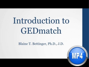 Introduction to Gedmatch by Blaine Bettinger (digital download)
