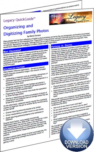 Legacy QuickGuide: Organizing and Digitizing Family Photos